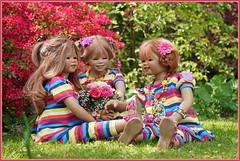 Anne-Moni Margie und Sanrike ... die neue Woche wird bunt ... (Kindergartenkinder) Tags: grugapark essen kindergartenkinder blüte baum garten blume park frühling annette himstedt dolls azalee kind annemoni sanrike margie