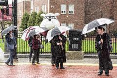 Rainy Graduation Day II (WilliamND4) Tags: sliderssunday hss rain umbrella photoshop people