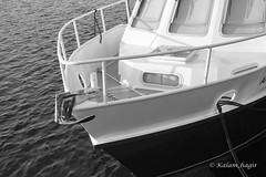 Zeeland (kalam_hagir) Tags: white black boat coque bateau north see netherlands monochrome