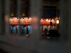 double vision (Cosimo Matteini) Tags: cosimomatteini ep5 olympus pen m43 mft mzuiko45mmf18 london soho night reflection fragmented people doublevision