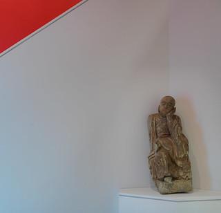 Meditating Arhat sculpture