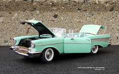 1957 Chevrolet Bel Air Convertible (JCarnutz) Tags: 124scale diecast danburymint 1957 chevrolet belair