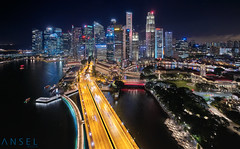 Birds Eye View take 2 (draken413o) Tags: singapore architecture cityscapes skyline skyscrapers urban places scenes asia travel destinations aerial dji drone phantom 4 pro night flight panorama long exposures super cbd merlion marina bay raffles place