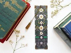 Folk Bookmark (Jigglemawiggle) Tags: bookmark pagemarker bookworms booklovergift literarygift pagekeeper folkflorals folkyflowers etsy folksy jigglemawiggle