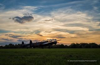 Bombers' sunset