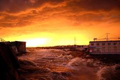 The Storm. (Photolove2017) Tags: storm sky sunrise photolove2017 portage chaudier dam hydro flooding waves zibi tourism sun layers clouds canada interprovincial island nikondx nikon d3100