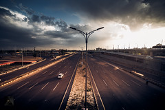 Islamabad (Aadilsphotography) Tags: islamabad city architecture cityscapes road highway canon wide fadils aadils 14mm sunset effects clouds cloudy street lamps pakistan federal capital