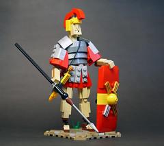 Veni, vidi, vici (vir-a-cocha) Tags: lego figure man warrior legionary rome sculpture character viracocha charisma history smile