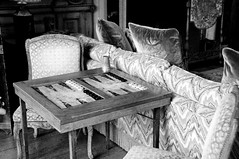 DSC_6024 (Thomas Cogley) Tags: leeds castle maidstone kent uk thomas cogley thomascogley interior black white mono bw greyscale room backgammon
