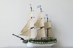 IMG_2697 (sebeus) Tags: lego ship corvette sail rigging