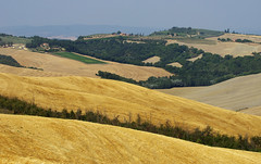 Tuscany landscape after harvest (Gregor  Samsa) Tags: italy italia tuscany toscana summer august trip roadtrip exploration landscape scenery scenic sun sunlight rolling field fields hill hills rollingfields rollinghills after harvest afterharvest