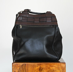 Delvaux Leather Bucket Bag in Black and Brown (StoredandAdored) Tags: delvaux designer bags handbags purses preloved pre loved fashion accessories leather bucket storedandadored preowned accessorize sacs sac