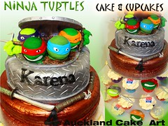 Auckland Cake Art)) Tags: ninja turtles silver diamond plate birthday ...