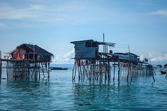 Fishing village (Syahrel Azha Hashim) Tags: woodenhouses nikon seagypsies 2016 fishingvillage holiday nopeople simple housesonstilts poor details dramaticsky island architecture local bluesky village community clearsky dof poverty d300s houses building asia wooden floatingvillage getaway handheld buildings colorimage vacation residential prime clouds unfortunate naturallight shallow colorful sabah beautiful travel simplelife syahrel ocean colors bodgayaisland light malaysia semporna detail