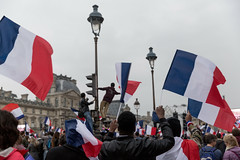 French Election: Celebrations at The Louvre, Paris (Lorie Shaull) Tags: presidentielle2017 frenchelection frenchelections2017 paris emmanuelmacron thelouvre