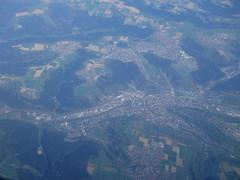 201704073 LH2145 STR-MUC Schwäbisch Gmünd (taigatrommelchen) Tags: 20170414 germany schwäbischgmünd river rems city aerial view photo airplane inflight dlh clh