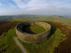 """GRIANAN OF AILEACH (STONE RINGFORT), BURT, CO.DONEGAL, IRELAND. (ZACERIN) Tags: """"ailigh"""" """"grianan of aileach"""" """"stone ringfort"""" """"burt"""" """"codonegal"""" """"ireland"""" """"grianan"""" """"greenan mountain"""" """"1700bc"""" """"ringfort"""" """"fort"""" fort"""" """"zacerin"""" """"hdr"""" """"pictures grianan """"christopher paul photography"""" """"drone """"solo 3dr"""" """"view from the sky"""""""