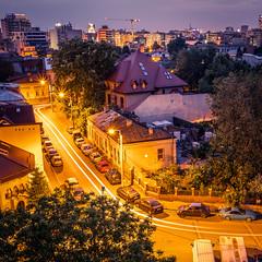 Strada Vulturilor - Bucharest, Romania - Travel photography (Giuseppe Milo (www.pixael.com)) Tags: night lighttrails urban bucharest travel longexposure cirty romania orange light bucurești municipiulbucurești ro onsale