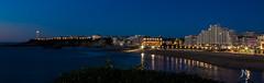 Biarritz by night (Janick Norman Leroy) Tags: biarritz pays basque country night nuit photo de long exposure exposition longue lumiere ville city light canon eos 1200d rebel t5 ocean atlantique mer été cote phare