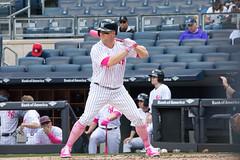 Yankees outfielder Brett Gardner awaits a pitch in the first inning. (apardavila) Tags: brettgardner mlb majorleaguebaseball newyorkyankees yankeestadium yankees yanks baseball sports