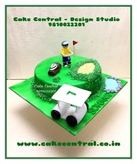 Golf Cake #golf  #designercake #delhi #fondant #themed #golfcake #birthdaycake #newdelhi (Cake Central-Design Studio) Tags: firstbrthday designercake delhi fondant themed kidscake