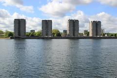 Southmere Lake (Tristan Earl) Tags: southmerelake london aclockworkorange misfits thamesmead brutalist architecture tower urban water
