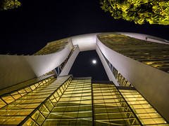 Marina Bay Sands Abstract (Wormsmeat) Tags: marinabay marinabaysands singapore architecture tower moon yellow night glass height olympus mzuiko714f28pro penf