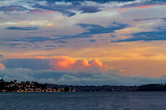 Across the Lake (Sterling67) Tags: sunset lakemacquarie clouds water 100400