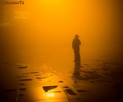 Orange mist - DSC2704 (cleansurf2) Tags: fog cloud night dark orange people person street simple silhouette simplicity mood mirrorless minimual minimalism mist midnight vietnam sapa