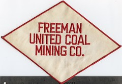 Freeman United Coal Mining patch (Coalminer5) Tags: coalmining coalminer coalmemorabilia coalcollectibles mining miningmemorabilia miningcollectible miningartifacts patch franklincountycoal sesser waltonville orientcoal freemanmine freemancoal
