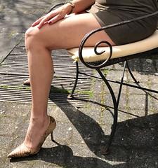 MyLeggyLady (MyLeggyLady) Tags: hotwife milf teasing secretary thighs minidress cfm stilettos sexy legs heels