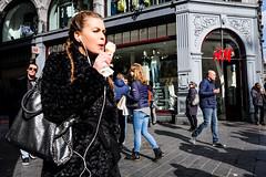 Girl with icecream @ Amsterdam (PaulHoo) Tags: candid streetcandid amsterdam city citylife people dam holland netherlands fujifilm fuji x70 2017 ice icecream girl beauty lady sun illuminated shadow nieuwedijk bag fashion streetphotography