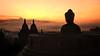 Borobudur Sunrise (André Schönherr) Tags: 40d visionhunter java borobudur tempel sunrise sonnenuntergang warm buddha stone red yellow indonesia indonesien light