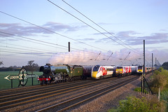 Half Way Line Up (Andy Masons Gallery) Tags: four track event flying scotsman azuma 43238 virgin 60103