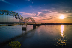 DJI_Mavic Pro (tmalone893) Tags: mavic pro drone aerial photography river mississippi memphis tennessee dji downtown sunset sun bridge skyline