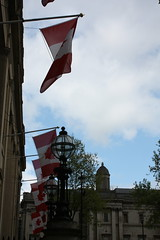 LONDON APRIL 2017 (thejollyroger) Tags: london trafalgar square nelsons column canadahouse april 2017 stgeorgesfeast spring flag flags mapleleafflag