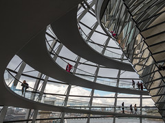 Spiralling upwards (neil.bulman) Tags: reichstag germany reflection dom glass modern berlin easter