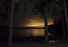 Campsite View (lancescapes photography) Tags: nightphotography reflections water lake nature landscapes trees idaho