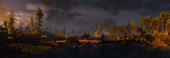 In The Last Light Of The Day (~Scimo~) Tags: witcher tw3 screenshot bridge landscape sky shore water