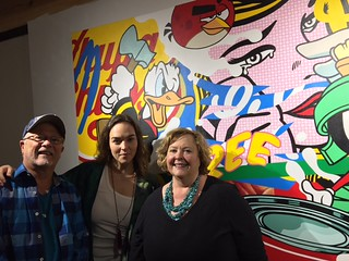 George Neary and Laura Brunney great promoters of the arts in Greater Miami with Mali Parkerson,  owner of gallery The Hue and president of MADA (Miami Art Dealers Association).