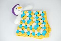 Mantita muñeco nieve (La Borda del Crochet) Tags: amigurumis ganchillo drops navidad muñecodenieve mantitadeapego bebés algodón crochet handmade