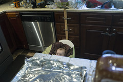 Helping With Dinner (evaxebra) Tags: ash baby infant peeking kitchen cooking cook