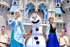 Elsa, Olaf, & Anna (The Disney Marine) Tags: princess walt disney world magic kingdom frozen anna elsa olaf mickey royal friendship faire