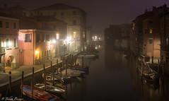Chioggia at night (Franco Beccari) Tags: chioggia canals boats nightlights canal