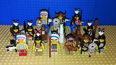 Indian Faction (Mana Montana) Tags: lego western wildwest classic indian minifigure army cavalry chief medicineman tribal feathers horses archers