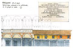 Ferrare 2017 (gerard michel) Tags: italia italy ferrara architecture sketch croquis aquarelle watercolour