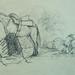 COURBET Gustave - Vache, Paysages et Bateau à Vapeur, Etudes (drawing, dessin, disegno-Louvre RF29234.5) - Detail 10
