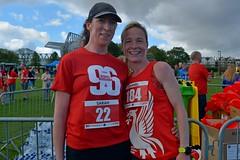 2 ladies with their medals (James O'Hanlon) Tags: btr runfor96 run for 96 runforthe96 liverpool stanley park 5k race event lfc 2017 stars vip jft96 jft