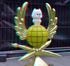 Tom Poes Monument Rotterdam 3D (wim hoppenbrouwers) Tags: tompoes monument rotterdam 3d martentoondermonument anaglyph stereo redcyan blaak binnenrotte bommel
