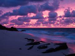 Bermuda beach sunrise the night after the storm. (Dev WR) Tags: fz28 panasonic sunrise beach bermuda yellow purple storm